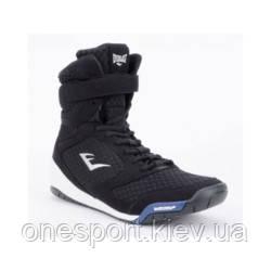 Боксерки EVERLAST Elite High Top Boxing Shoes US 8 (40) чёрный + сертификат на 200 грн в подарок (код