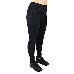 Джеггінси жіночі облягаючі чорні ТМ Метелик