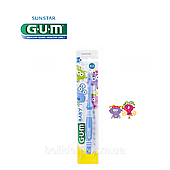 Зубная щетка GUM BABY MONSTER (0-2 лет), 1шт
