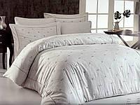 Комплект постельного белья Maison D'or Juanna Ecru-Dark Lilac сатин 220-200 см кремовый
