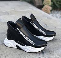 Модные ботинки женские кожаные весенние осенние на низком ходу спортивные комфорт 37 размер M.KraFVT 2119 2020
