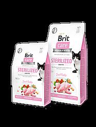 Сухой корм Brit Care Cat GF Sterilized Sensitive для стерилизованных с чувствительным пищеварением (кролик)