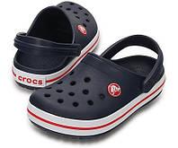 Кроксы детские синие летние шлепанцы удобные Crocs Crocband Navy