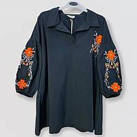 Яркая блузка с цветами Darkwin 21-2411
