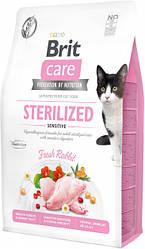 Сухой корм Brit Care Cat GF Sterilized Sensitive для стерилизованных с чувствительным пищеварением (кролик) 7 кг