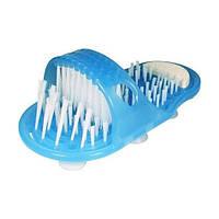 Щітка-масажер для стопи ніг Easy Feet Блакитна 184675