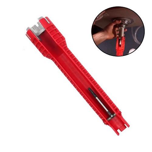 Ключ сантехнический, универсальный, для труднодоступных мест, 8в1