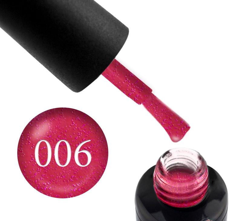 Гель-лак Oxxi professional (10 мл) №006 (розово-красный, с микроблеском)