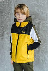 Детcкая жилетка Staff black & yellow чёрный/желтый LBL0161