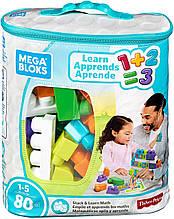 Конструктор мега блокс  80 деталей с цифрами Mega Bloks Stack Learn Math