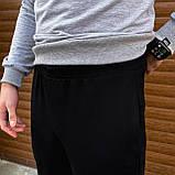 Комплект свитшот серый и джогери черные, фото 3
