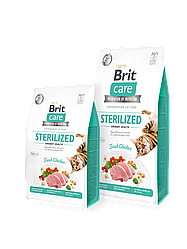 Сухой корм Brit Care Cat GF Sterilized Urinary Health уринари для стерилизованных (курица)