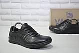 Мужские повседневные туфли кэжуал натуральная кожа черные Vaslav, фото 4