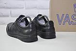 Мужские повседневные туфли кэжуал натуральная кожа черные Vaslav, фото 2