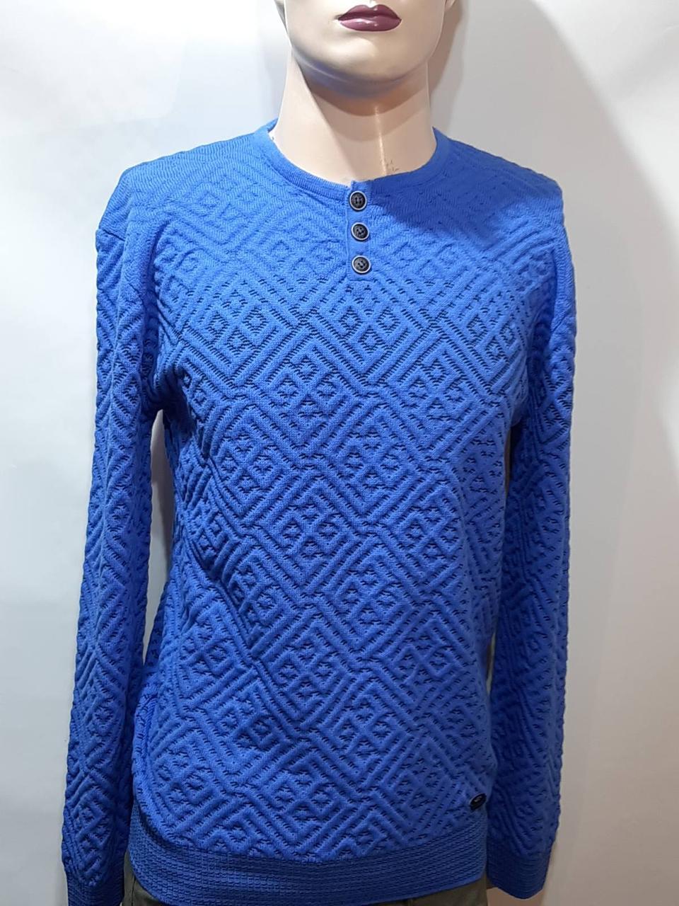 Батник чоловічий пуловер весняний светр Туреччина Синій