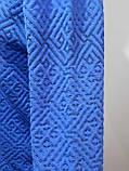Батник чоловічий пуловер весняний светр Туреччина Синій, фото 6
