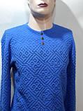 Батник чоловічий пуловер весняний светр Туреччина Синій, фото 8
