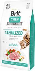 Сухой корм Brit Care Cat GF Sterilized Urinary Health уринари для стерилизованных (курица) 7 кг