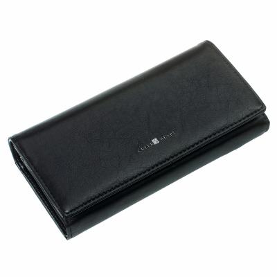 Кошелек женский ClassicSeries черный, эко кожа, 717 black