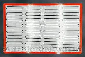 Професійний силіконовий килимок для випічки еклерів 60*40 см