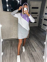 Платье женское спортивное худи с капюшоном