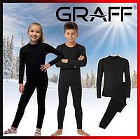 Детское термобелье теплое черное для повседневной носки