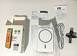 Магнитный автодержатель с беспроводной зарядкой MagSafe X16 для iPhone 12 mini, 12, 12 Pro, 12 Pro Max, фото 7