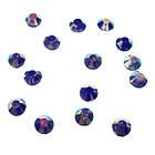 Камені Стрази для Нігтів Акрилові Сині з Блакитним Відливом в Наборі, розмір 3 мм, Дизайн Нігтів, фото 2