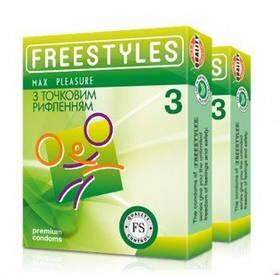 Презервативы FREESTYLES точечные № 3 шт Max Pleasure