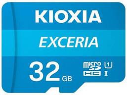 Карта памяти microSDHC 32GB Kioxia Exceria (Toshiba) UHS-1(class10)  to 100 Mb/s +SD адаптер