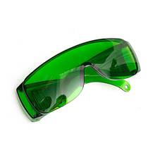 Очки зеленые усиливающие защитные для лазерного гравера 1250нм OD4+