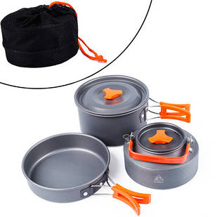 Набор туристической посуды для кемпинга на 2 человека, походный
