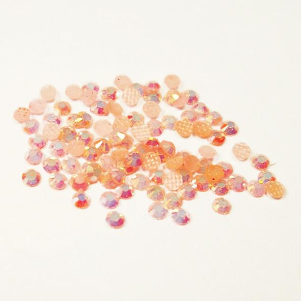 Камни Стразы  для Ногтей Акриловые Розовые с Отливом в Наборе, размер 2 мм, Декор Ногтей, Маникюр