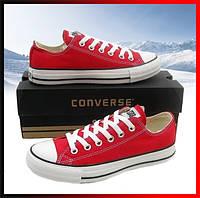 Кеды низкие конверс красные Converse ALL STAR , кеды для повседневной носки