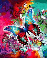 Картина по номерам рисование Babylon VP1314 Бабочка в красках 40х50см набор для росписи по цифрам в коробке, фото 1