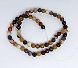 Намисто на волосіні Мукаит яшма 6 мм нитка 38,5 см, фото 4