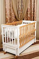 Детская кровать Alex на подшипнике с откидной боковиной и ящиком 60 на 120 НОВИНКА
