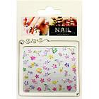Наклейки для Нігтів Самоклеючі 3D Nail Sticrer CHA 13 Квіти Метелики Різних Кольорів Слайдер Дизайн, фото 2
