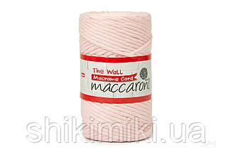 Еко шнур Macrame Cord 3 mm, колір Ніжно рожевий