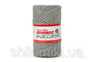 Еко шнур Macrame Cord 3 mm, колір Сірий меланж