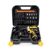 Шуруповерт акумуляторний DeWALT DCF680G2F 12В 2Аһ дриль валізку 2 акумулятора набір інструментів