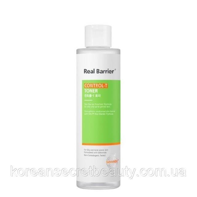 Тонер для чутливої жирної і проблемної шкіри Real Barrier Control-T toner