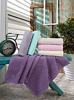 Жаккардовые полотенца для сауны пляжа в упаковке 6 штук 100 на 150 см Турция  Gulcan, фото 1