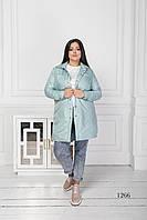 Женская куртка короткая ментол 1266