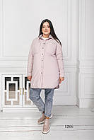 Женская куртка короткая пудра 1266