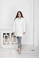 Женская куртка короткая белого цвета 1266