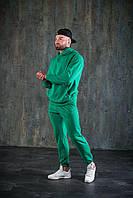 Спортивный костюм WOW Мужской оверсайз ВЕСНА худи с капюшеном Качество LUX (Размер S) Зеленый