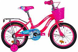 Велосипед детский для девочки 16 дюймов 10 рама Formula FLOWER 2021 розовый