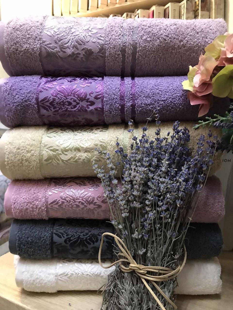 Махровые полотенца для лица в упаковке 6 штук 50 на 90 см Турция Soft Life