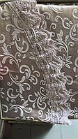 Скатертина тефлонова на круглий стіл 160см водовідштовхувальна з мереживом Туреччина Verolli в кольорах